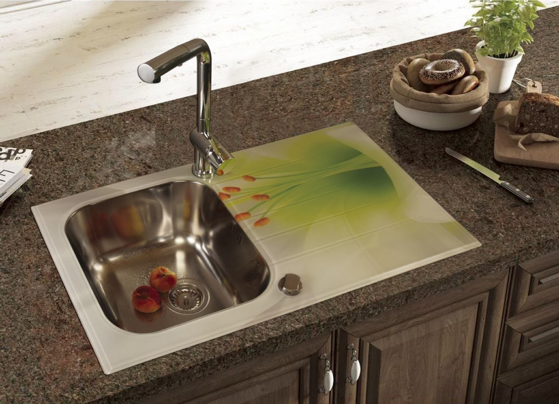 Akcija Stakleni inox sudoper sa ili bez printa S line