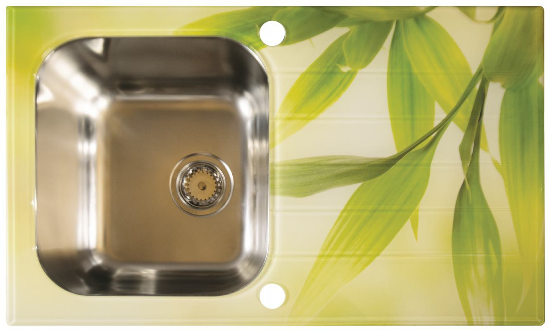 Stakleni inox sudoper sa ili bez printa S line