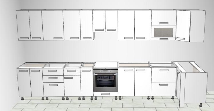 Kuhinja Vezo po elementima
