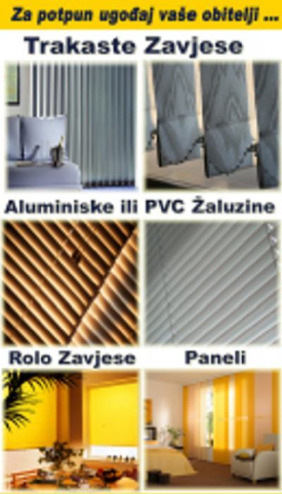 Žaluzine aluminijske i pvc