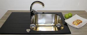 Stakleni inox sudoper - bez printa S line