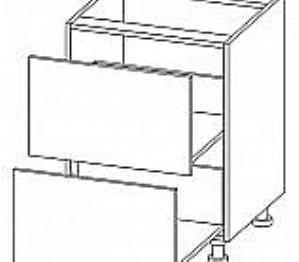 Donji element 2 ladice